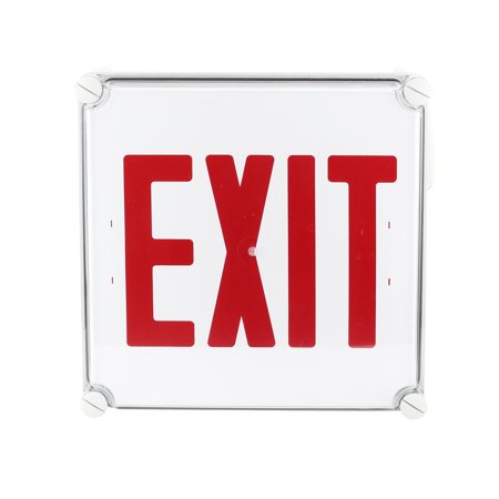 - Dual Lite N4Xer1-Ep Nema 4X Series Exit Sign Emergency Light 120V White