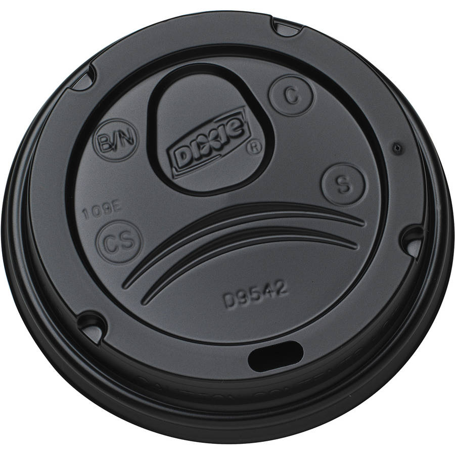 Dixie Dome Lids, Black, 1000 count