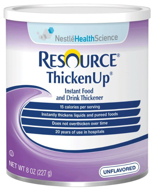 Resource Thickenup Instant Unflavored Food Thickener 8 oz. Can, 2 Pack by NESTLE HEALTHCARE NUTRITION INC