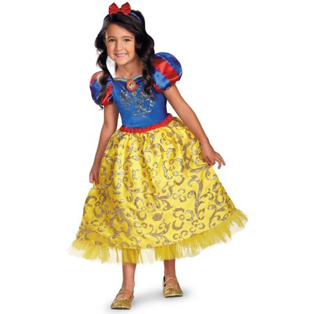 Disney Snow White Deluxe Sparkle Toddler Halloween Costume, 3T-4T - Disney Deluxe Costumes