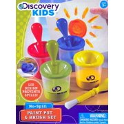 Sky Companies 2707311 Discovery Kids No-Spill Paint Pot & Brush Set
