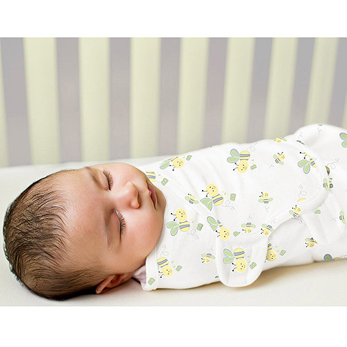 Summer Infant SwaddleMe Cotton Knit 2-Pack, Small/Medium, Bumblebee