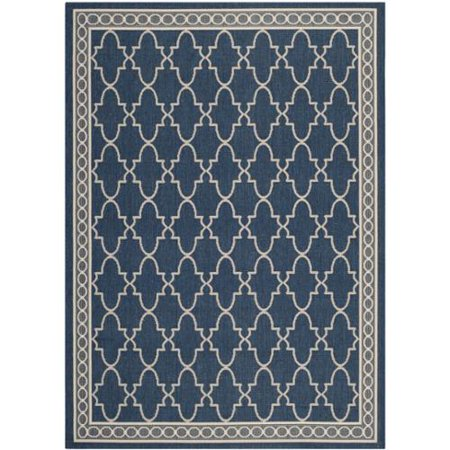 Safavieh courtyard trellis all weather navy beige indoor for All weather patio rugs