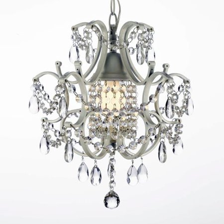 "Harrison Lane J2-597 Single Light 11"" Wide Single Tier Chandelier with Hanging Crystal Accents"