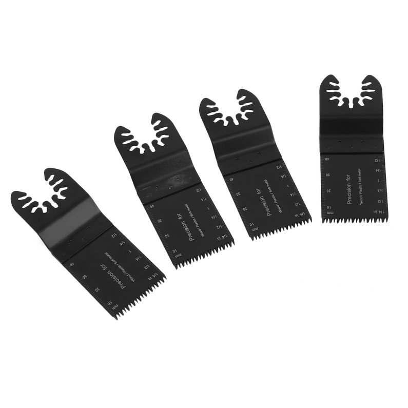 Hot Sale NEW 14PCS High Speed Closeout Oscillating Multi Tool Saw Blades Set For Woodworking Wood Plastic Soft Material(Black)