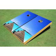 Beach Dock #1 Themed Cornhole Boards Bag Toss Set