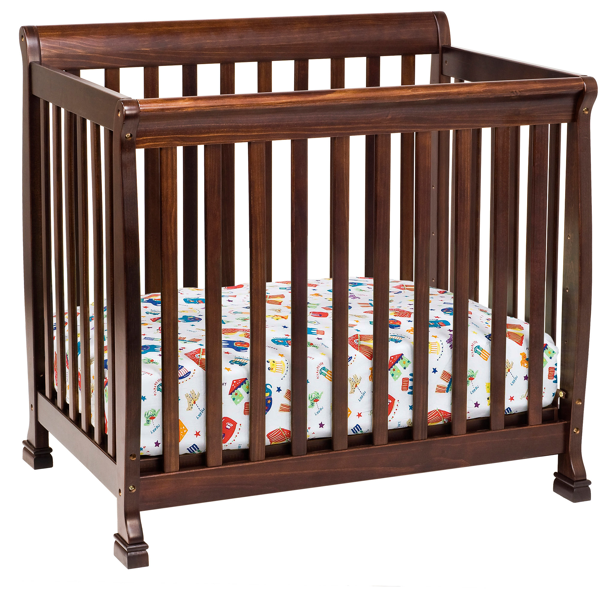 DaVinci Kalani 2-in-1 Mini Crib and Twin Bed, Espresso