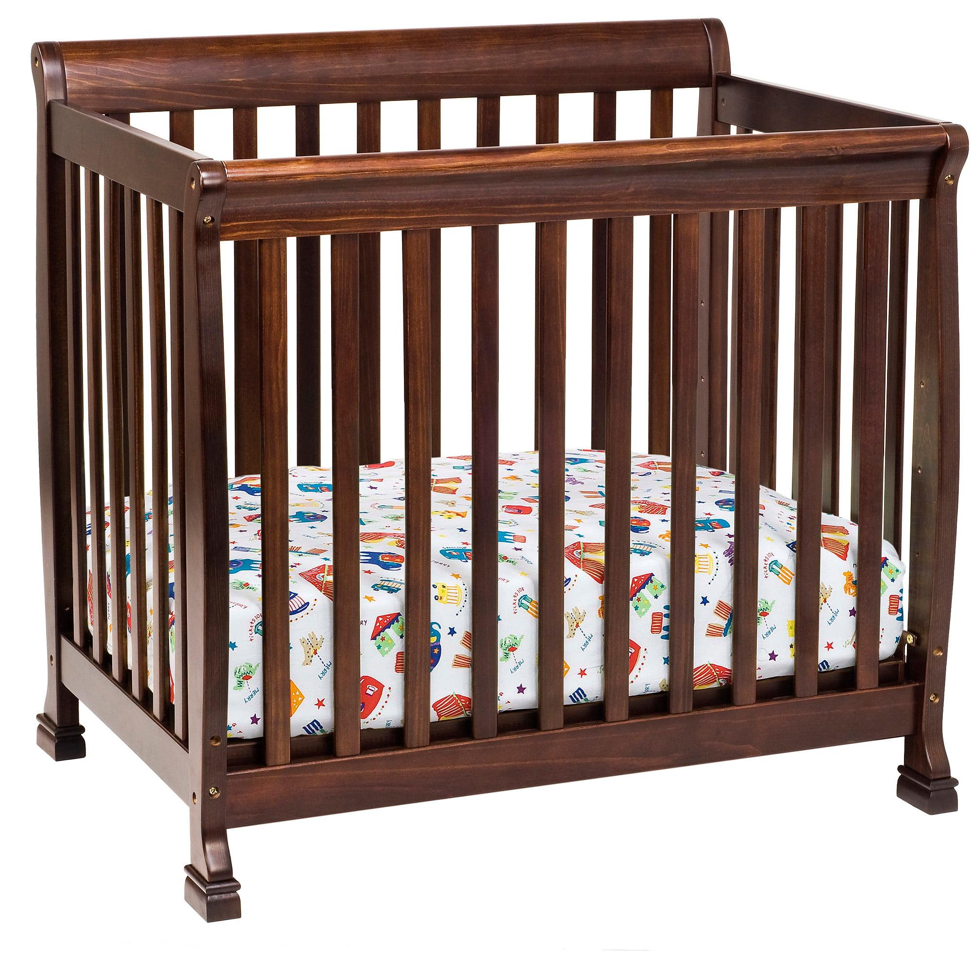 DaVinci Kalani 2-in-1 Mini Crib and Twin Bed, Espresso