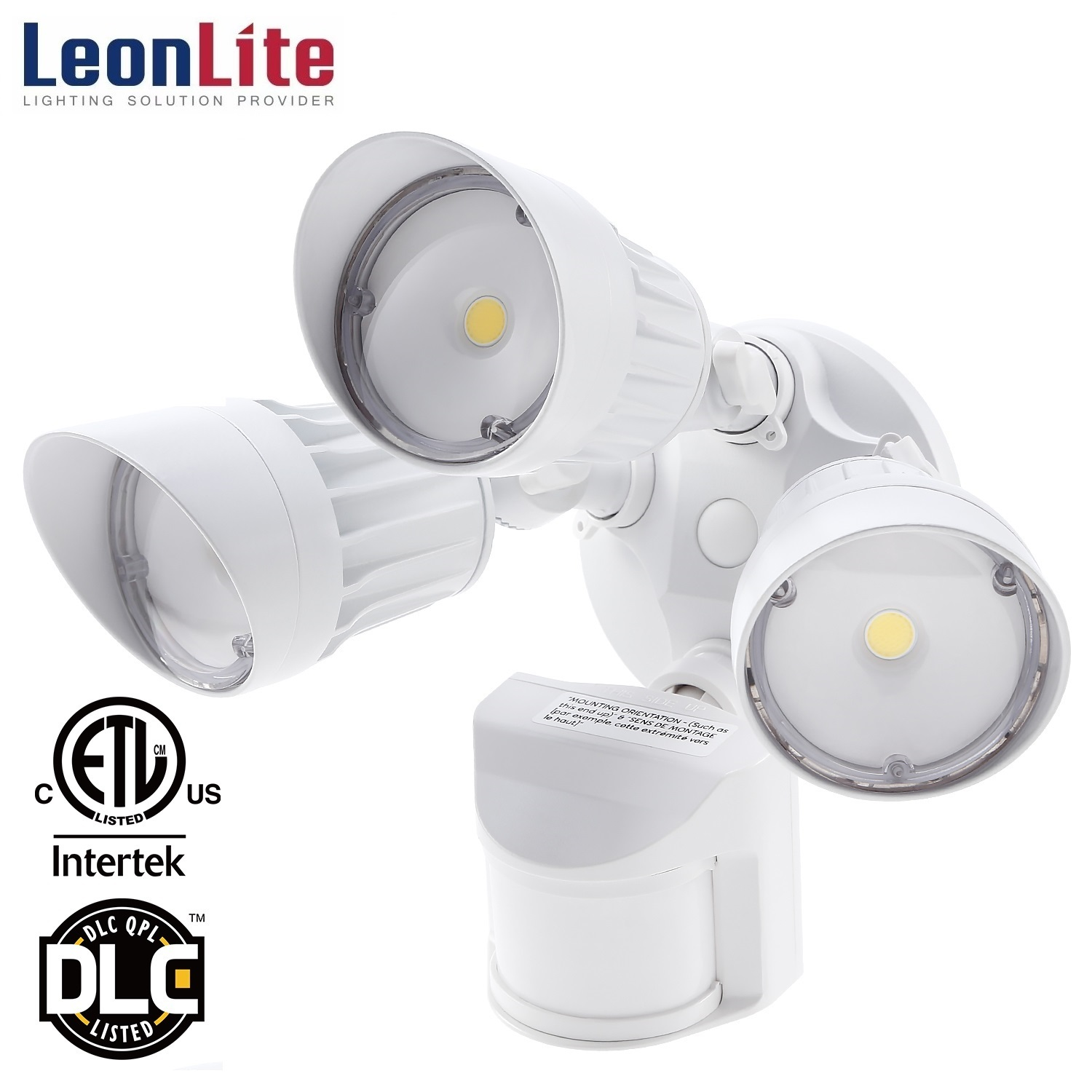 LEONLITE 30W LED Security Lights With Motion Sensor, Outdoor Security Lights for Patio, Yard, 5000K Daylight, White