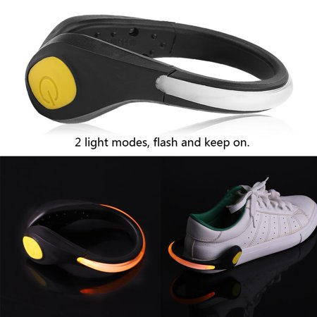 EECOO Running Bike Cycling Outdoor Sport Night Safety Warning LED Light Shoe Clip Light Shoe Clip Running Safety Shoes Clip