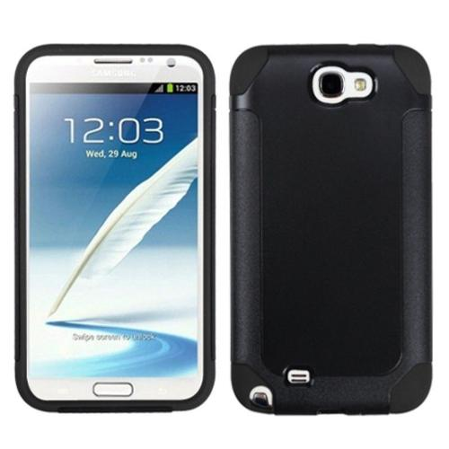Insten Black/Black Frosted Fusion Case for SAMSUNG: Galaxy Note II (T889/I605/N7100)