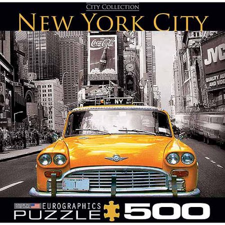 EuroGraphics New York City Yellow Cab 500-Piece Puzzle