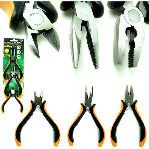 Stalwart Professional 3-Piece Mini Pliers Set