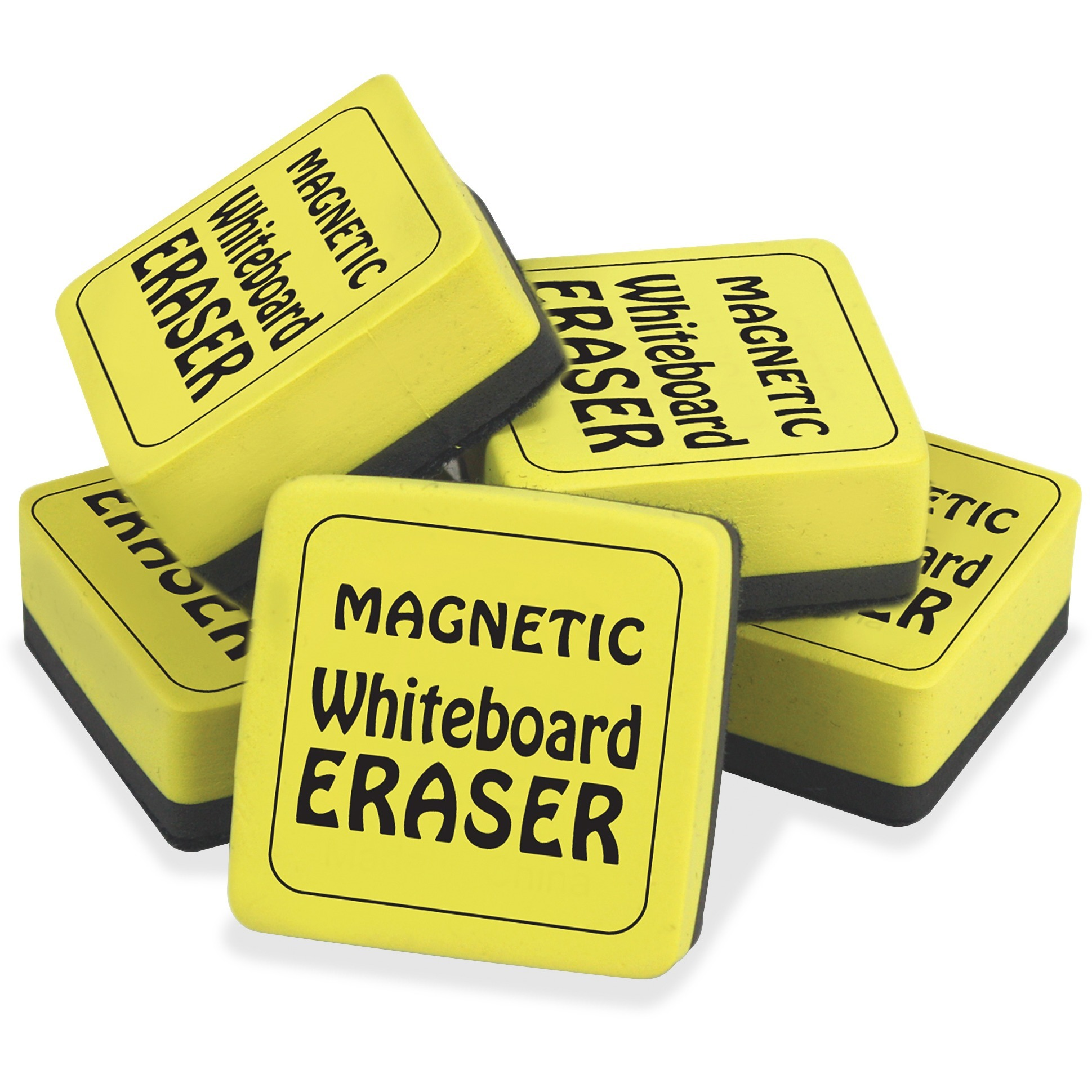 """School Smart Mini Magnetic Dry Erase Board Erasers, 2"""" x 2\ by The Pencil Grip, Inc"""