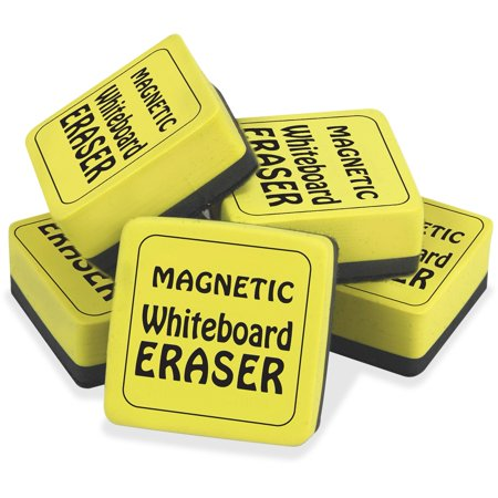 School Smart Mini Magnetic Dry Erase Board Erasers, 2