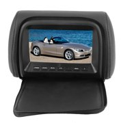 Mgaxyff Cuque 7 Inch 12V ABS Plastic Material Car Widescreen Headrest LCD Monitor MP5 DVD Video Player With Remote Control USB SD TV