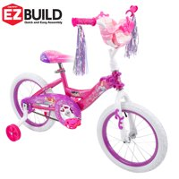 "Disney Princess 16"" Girls' Bike with Doll Carrier, Huffy EZ Build"