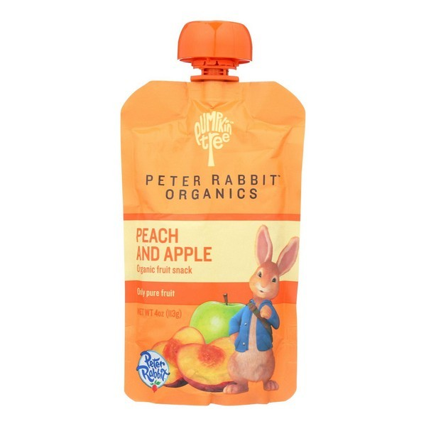 Peter Rabbit Organics Fruit Snacks - Peach And Apple - Pack of 10 - 4 Oz.