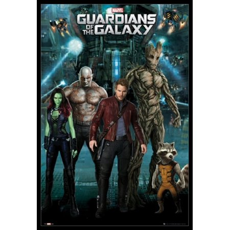Guardians Of The Galaxy - Superhero Team Laminated & Framed Poster (24 X 36) - Superhero Poster