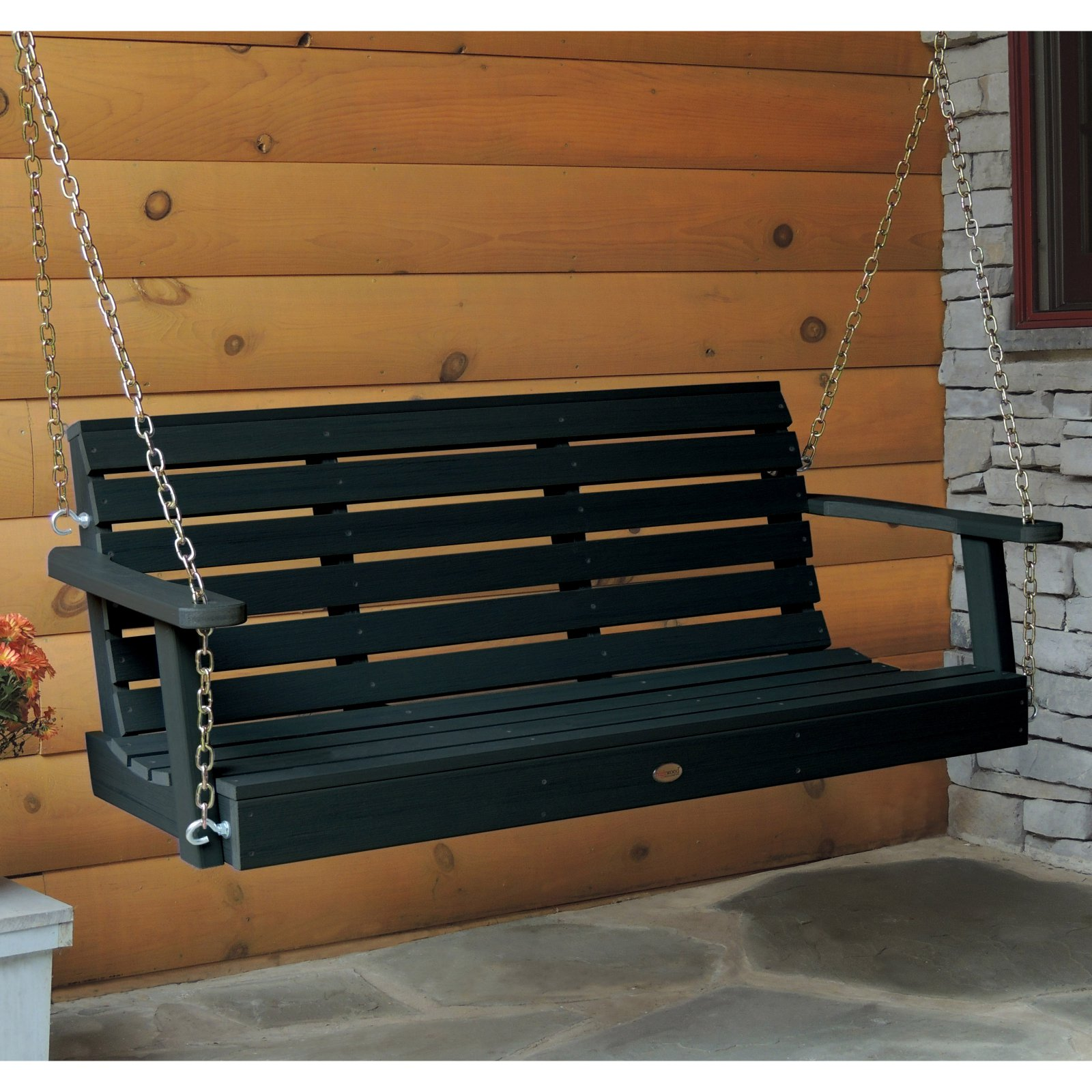 highwood Weatherly Recycled Plastic Porch Swing by Porch Swings