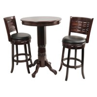 Boraam Sumatra 3 Piece Pub Table Set - Cappuccino
