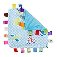 Taggies Colors & Style Lovey Security Blanket,  Let's Go Cars