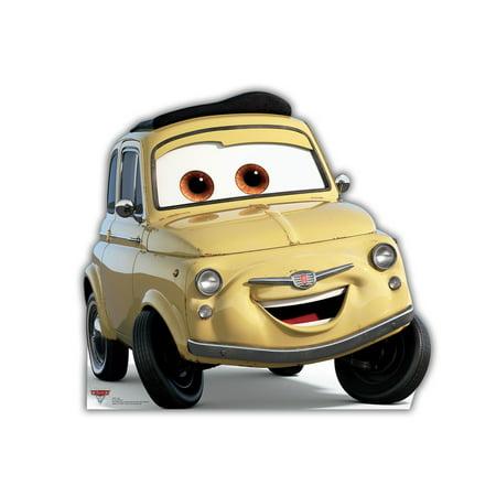 Disney Pixar Cars Luigi Life Size Cutout Stand Large Cardboard Party Prop Decor Birthday