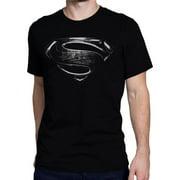 Superman tssupsilmovsymXXL Superman Silver Movie Symbol Mens T-Shirt - 2XL