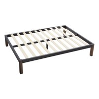 Mainstays Metal Bed Frame with Wood Legs, Black, Multiple Sizes