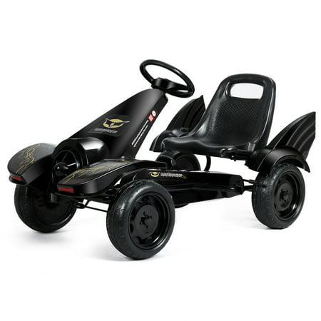 Goplus Go Kart Pedal Powered Kids Ride on Car 4 Wheel Racer Toy w/ Clutch & Hand Brake