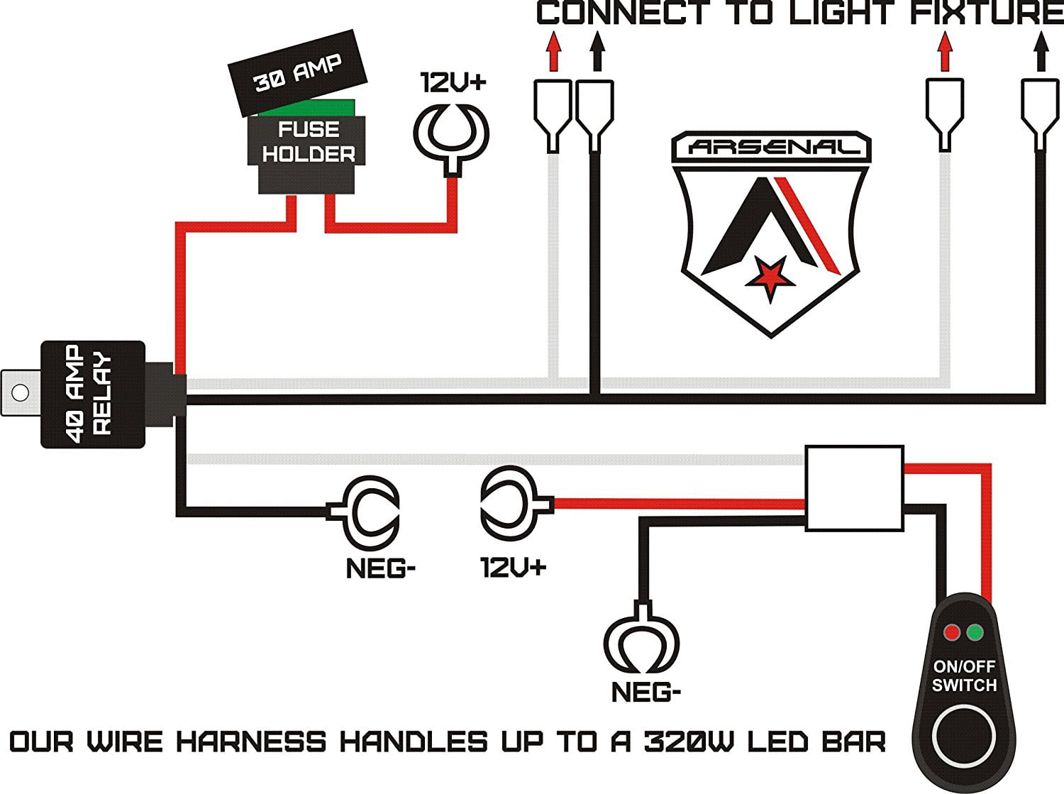 Led Light Bar Relay Wiring Diagram from i5.walmartimages.com