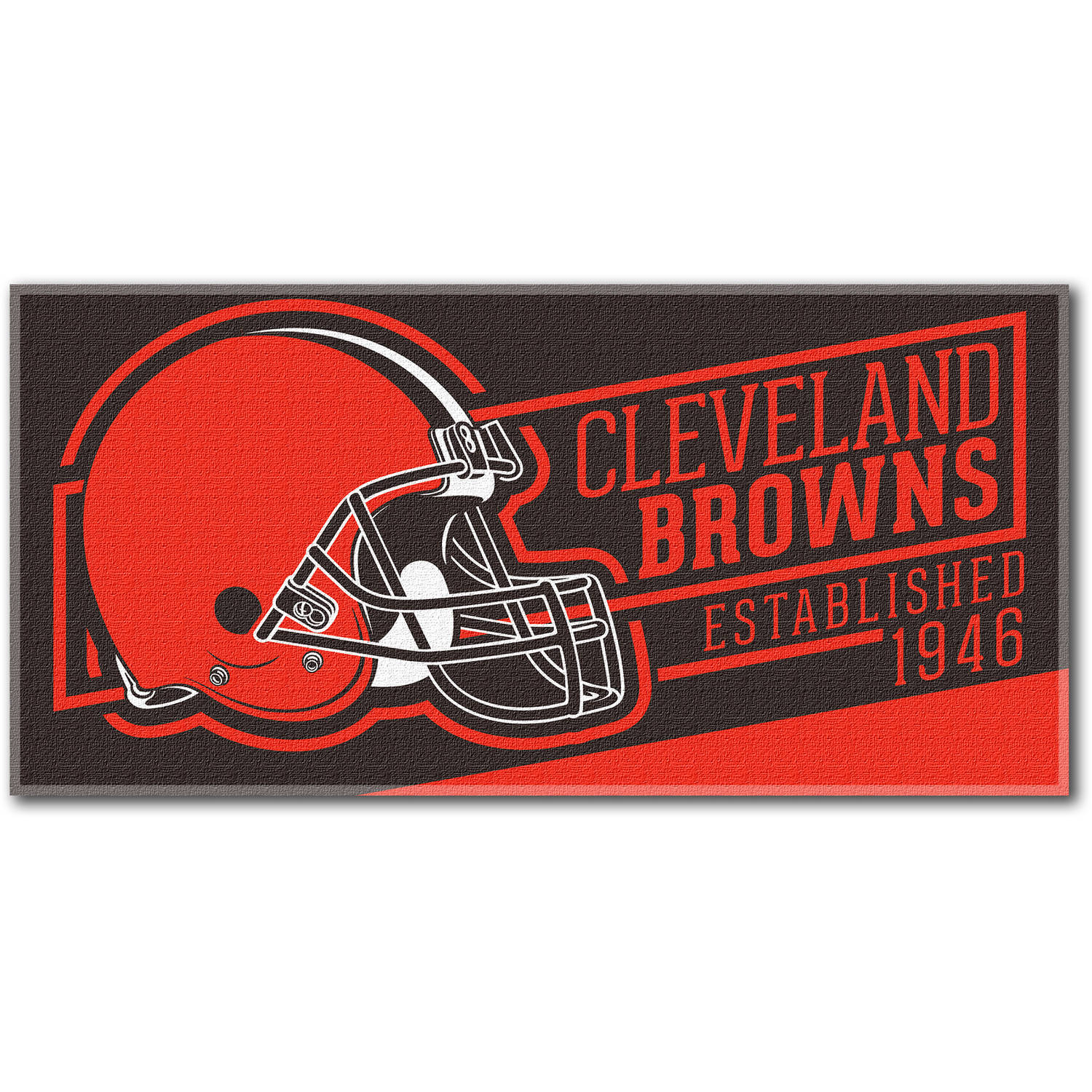 "NFL ""Cut Out"" 30"" x 60"" Beach Towel, Cleveland Browns"