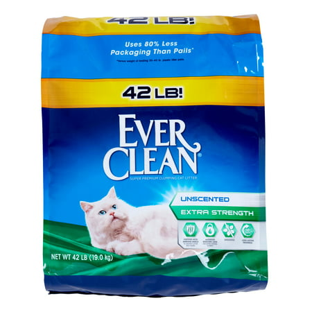 Ever Clean Unscented Extra Strength Premium Clumping Cat Litter, 42 Pound