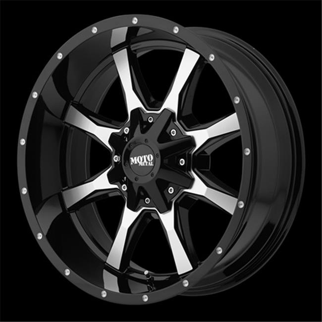Wheel Pros 081067324N Mo970 Moto Metal 6 x 135-5.5, Gloss Black With Milled Accents