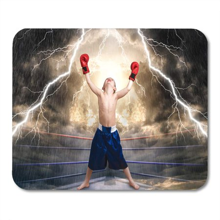 LADDKE Ring Blue Belt The Boxing Champion Children's Sports Red Winning Action Mousepad Mouse Pad Mouse Mat 9x10 inch