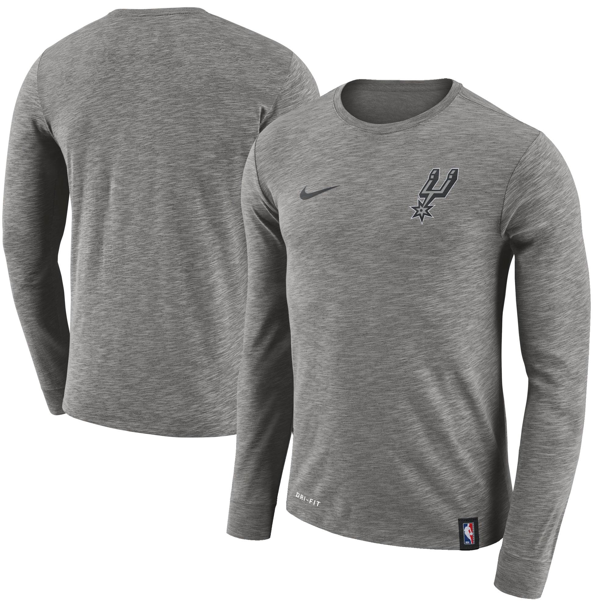 San Antonio Spurs Nike Facility Long Sleeve T-Shirt - Gray - XXL