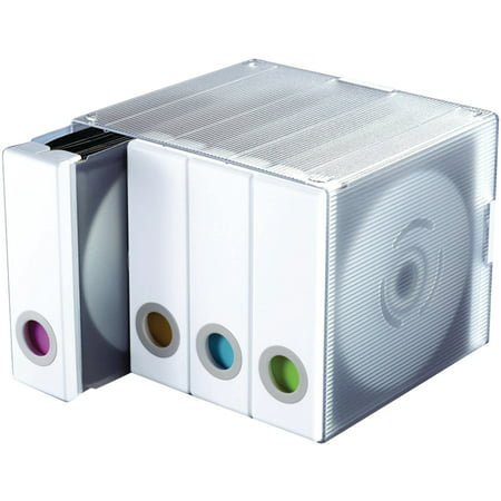 Atlantic Parade Stackable CD/ DVD Storage Organizer Cube (96 CDs/DVDs), White