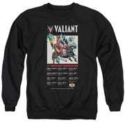 Valiant 25 Years (Front Back Print) Mens Crew Neck Sweatshirt