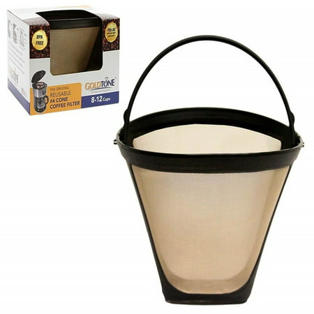 GoldTone Brand Reusable 4 Cone Filter replaces Black+Decker 4 Cone Coffee Filter and Permanent Black and Decker Coffee Filter for Black and Decker Machines and