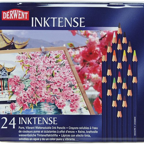 Reeves Derwent Inktense Pencil Set, Assorted Color, 24-Ti...