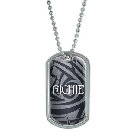 Male Names - Richie - Dog Tag