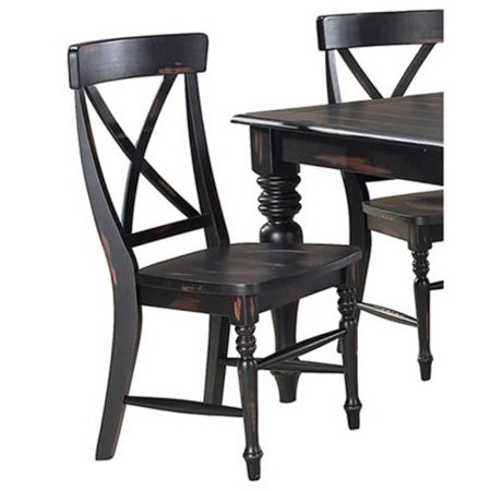 Imagio Home Roanoke X Back Dining Side Chairs Set Of 2 Rubbed Black