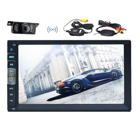 2 Din Car MP5 Player Autoradio Bluetooth Car Stereo In dash video audio Headunit Mirror Link for GPS Navigation APP of Android phones Double Din Car Radio NO-DVD Player + Free Wireless Rear (Best Ringtone App For Android Phones)