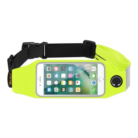 Running Sport Belt For Iphone 7/ 6/ 6s Or 5 Inches Device With Two Pockets In Green (5x5 Inches) (Running Belt Iphone)