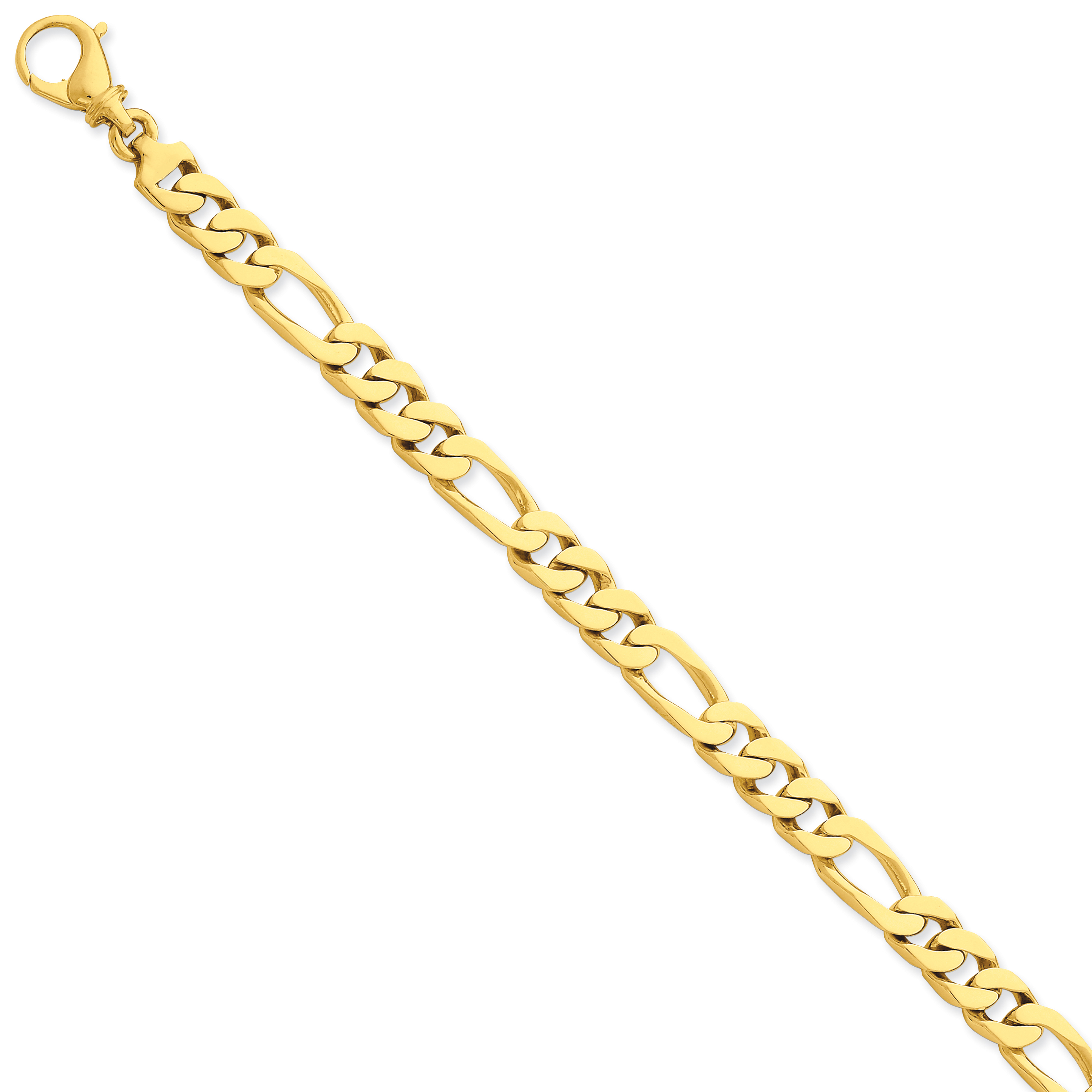 14K Yellow Gold 8.8mm Polished Fancy Link Bracelet - image 2 de 2