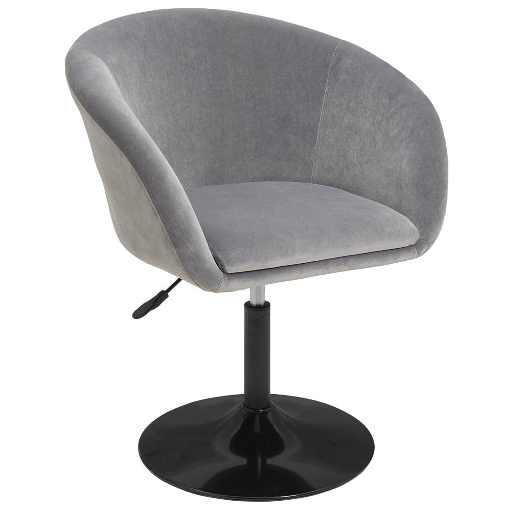 Duhome Makeup Vanity Chair Accent Chairs Comtenporary Lounge Chair Adjustable Modern Round Tufted Back Swivel Grey Velvet Walmart Com Walmart Com