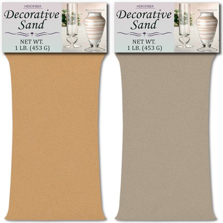 HeroFiber Colored Unity Sand (2 lbs.) - Peach and Grey - 1 lbs. per Color - Decorative Art Sand for Weddings, Vase Filling, Kids' Craft Play](Peach And Gray Wedding)