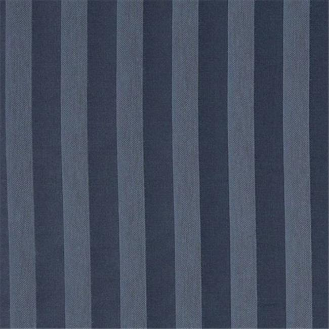 54 In Wide Navy And Blue Two Toned Stripe Upholstery Fabric