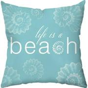 Checkerboard, Ltd Life is a Beach Throw Pillow
