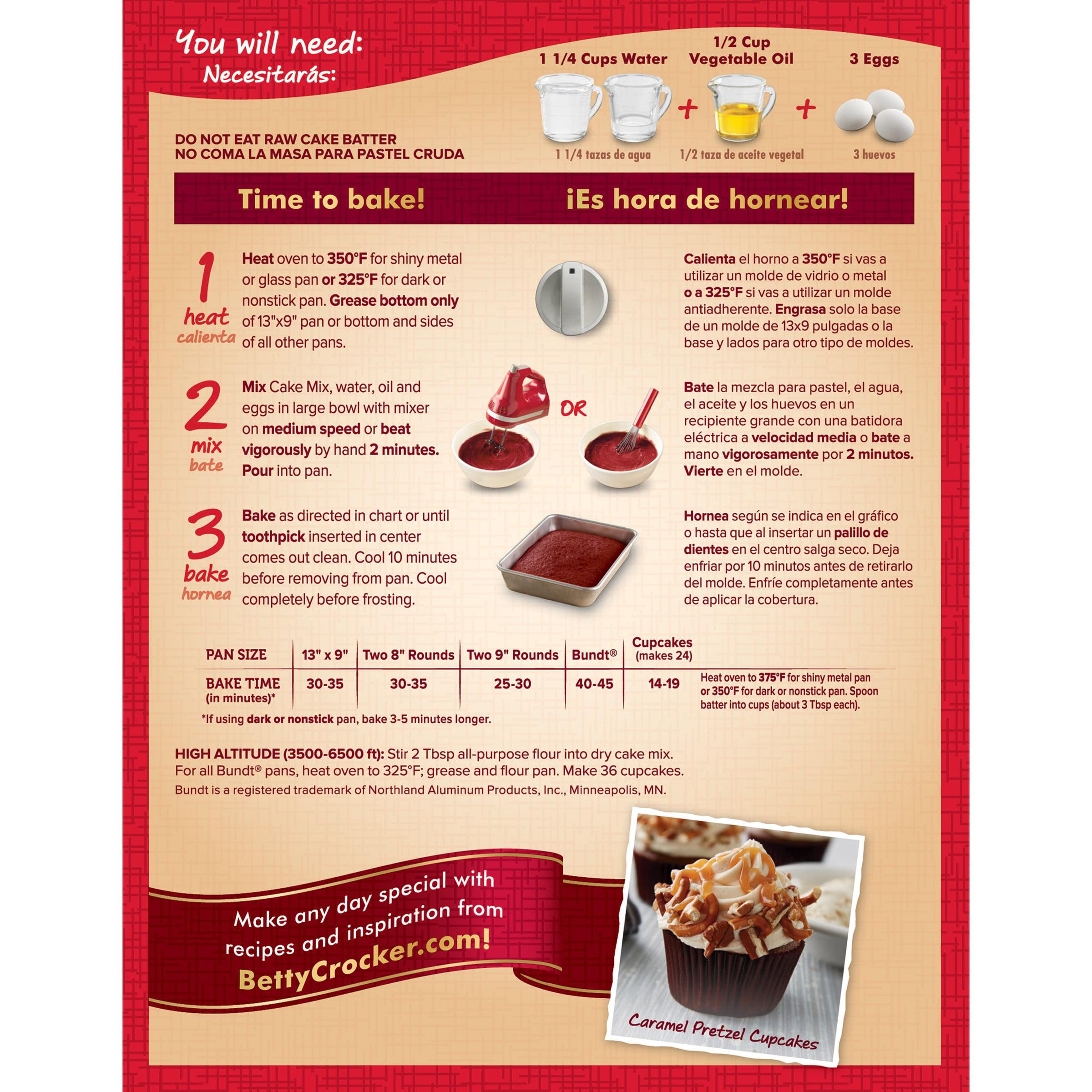 Betty Crocker Delights Velvet Red Moist Super Cake Mix 1525 Oz